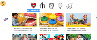 Screenshot of YouTube Kids Black Joy section featuring 6 different videos