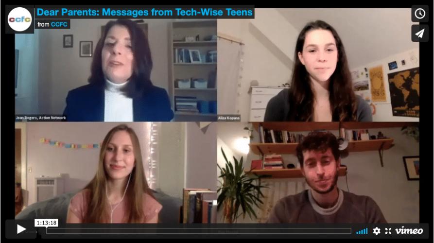 Dear Parents: Messages from Tech-Wise Teens