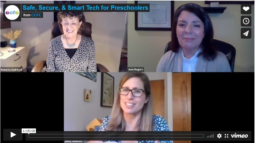 Safe, Secure, & Smart Tech for Preschoolers Webinar