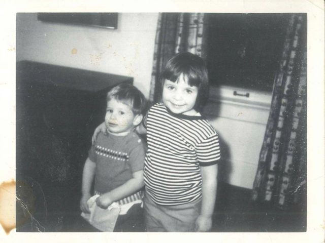 Jenny and brother 1965