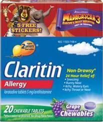 Madagascar-3 Claritin Box