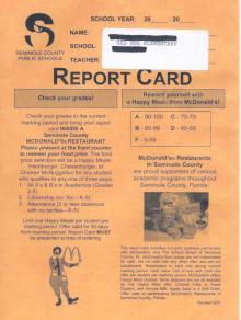 McDonald's Report Card
